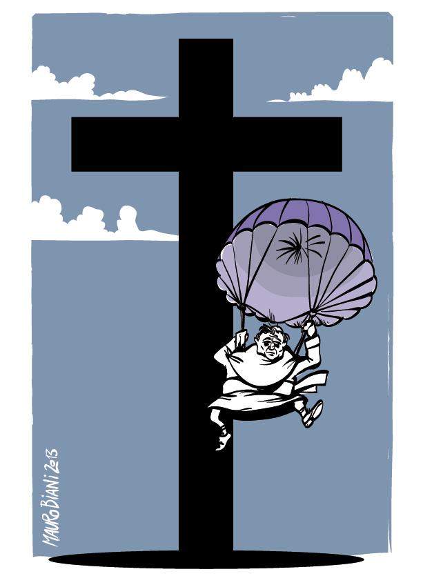 papa-croce-scendere