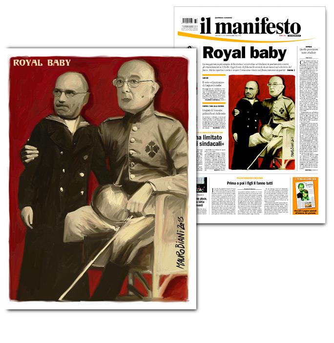 letta-napolitano-royal-baby-il-manifesto