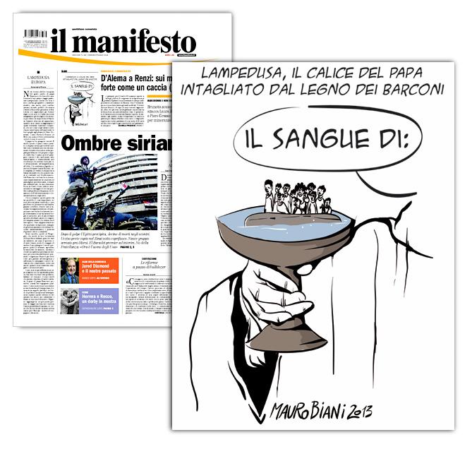 papa-lampedusa-calice-il-manifesto