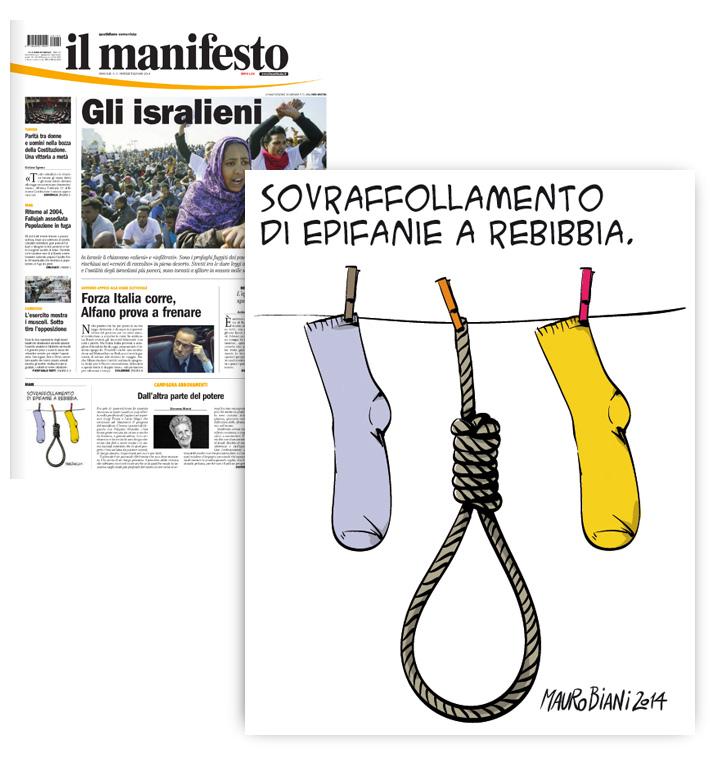 befana-sovraffollamento-carcere-impiccato-il-manifesto