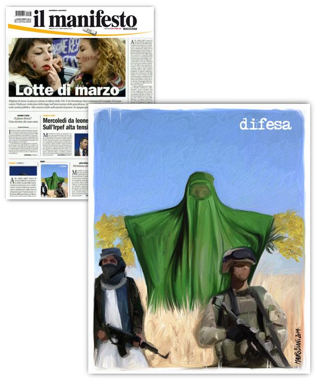 donna-burqa-mimosa-soldati-il-manifesto
