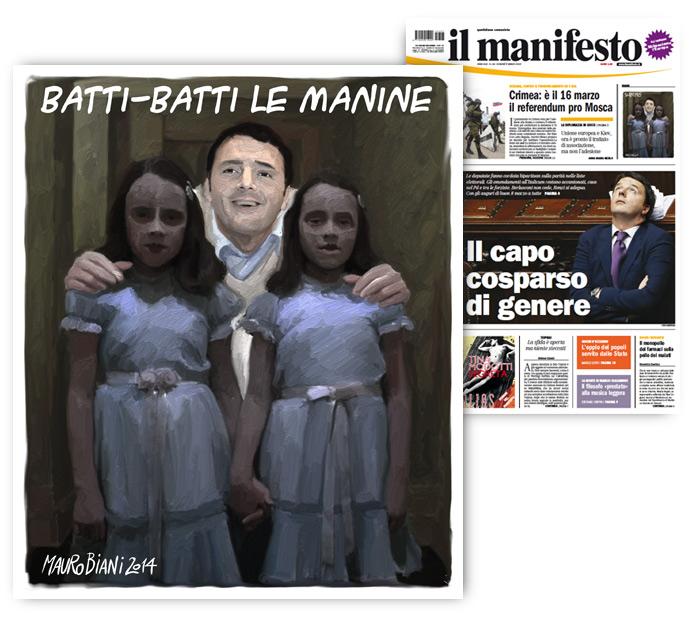 renzi-bimbe-shining-MANINE-il-manifesto