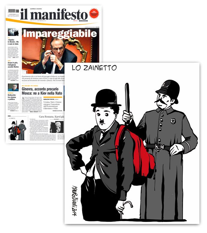 sgombero-zainetto-chaplin-polizia-il-manifesto