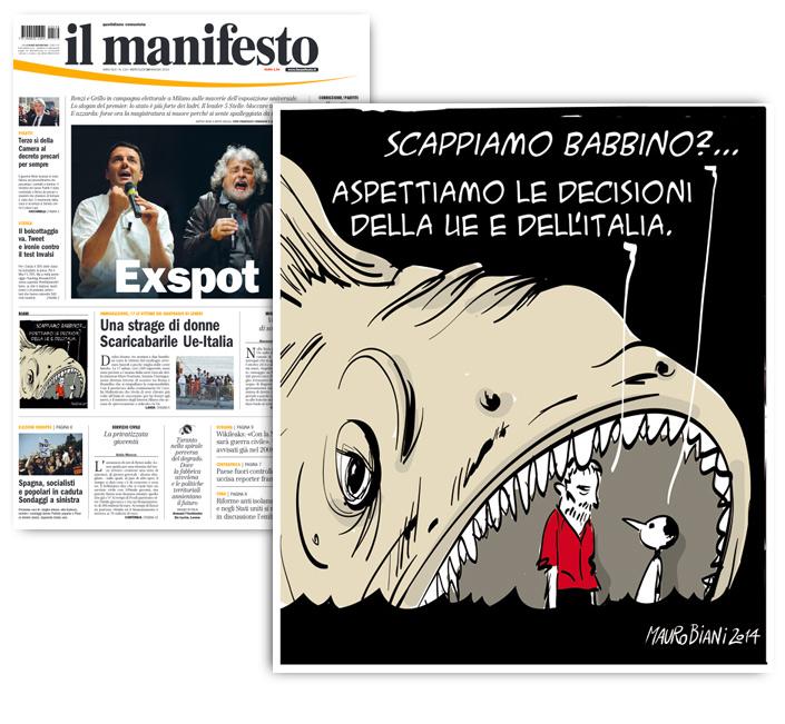migranti-pinocchio-europa-italia-il-manifesto