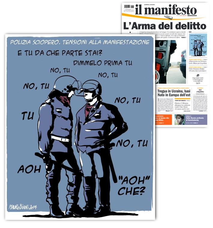 polizia-sciopero-il-manifesto