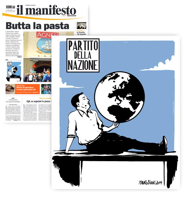 renzi-chaplin-partito-nazione-il-manifesto