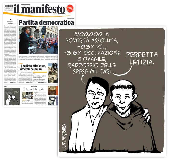 renzi-s-francesco-il-manifesto