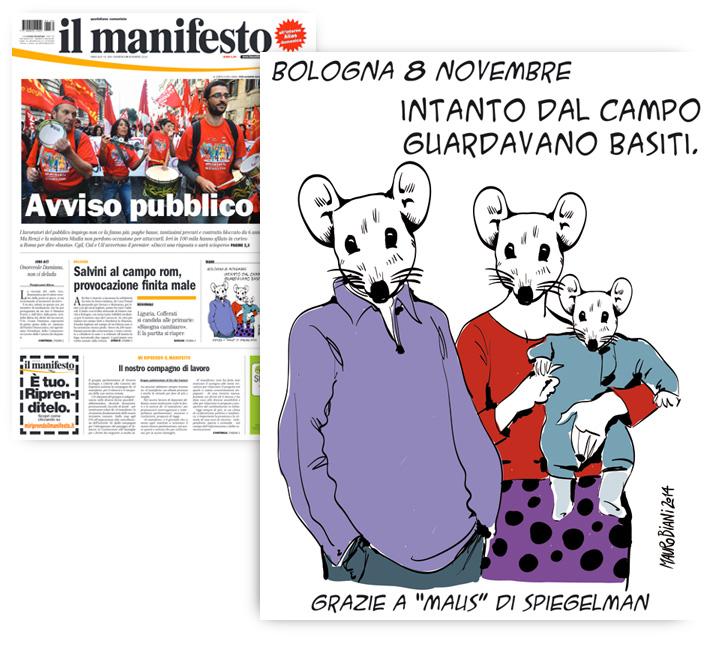 rom-bologna-salvini-maus-il-manifesto