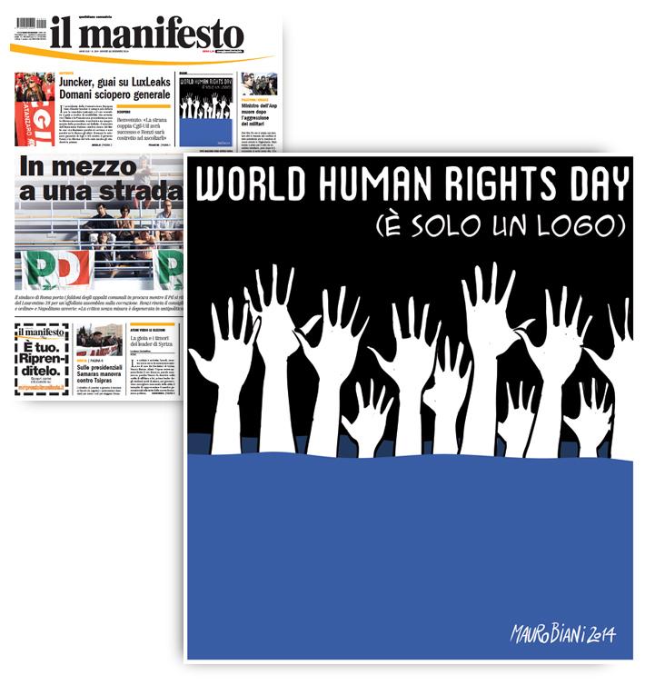 diritti-umani-logo-e-migranti-il-manifesto