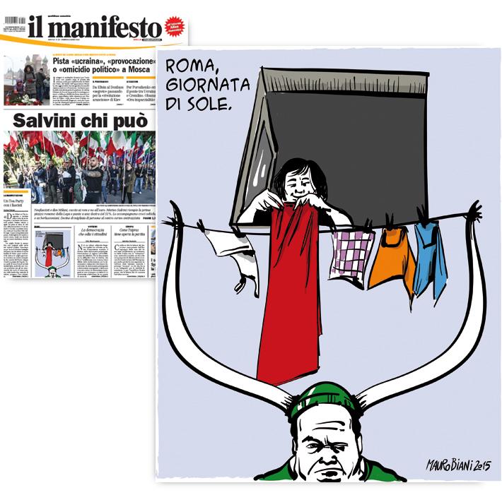 lega-roma-sole-panni-il-manifesto