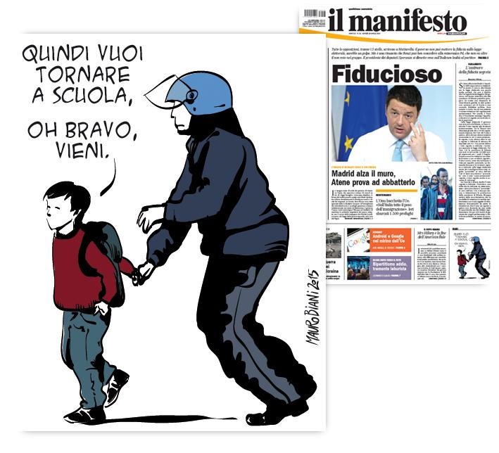 polizia-diaz-tornare-scuola-il-manifesto