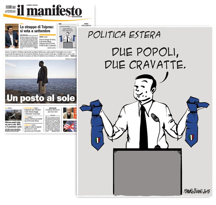renzi-medio-oriente-cravatte-il-manifesto