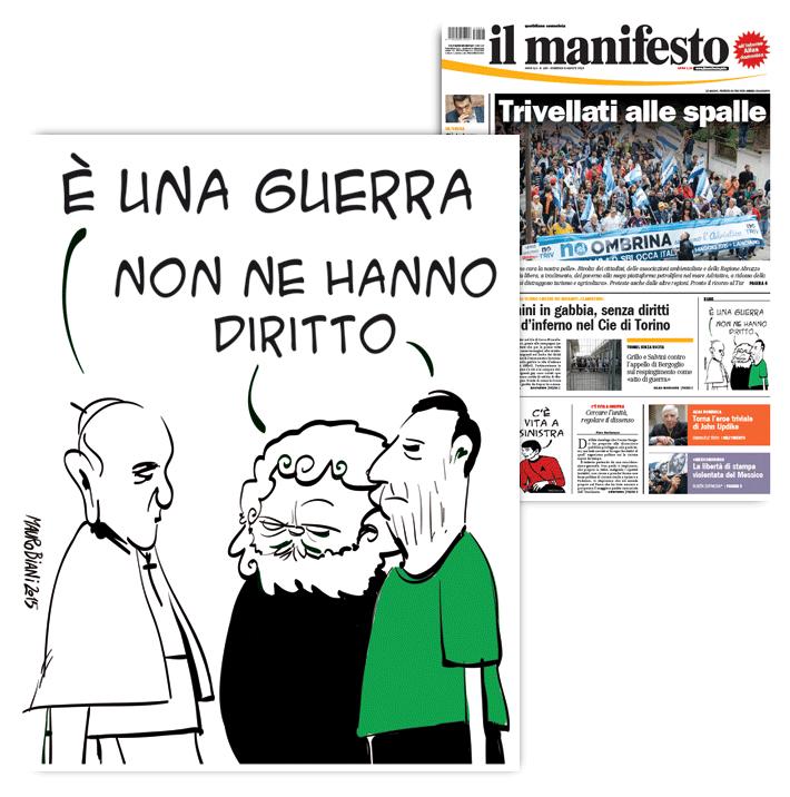migranti-papa-grillo-salvini-il-manifesto