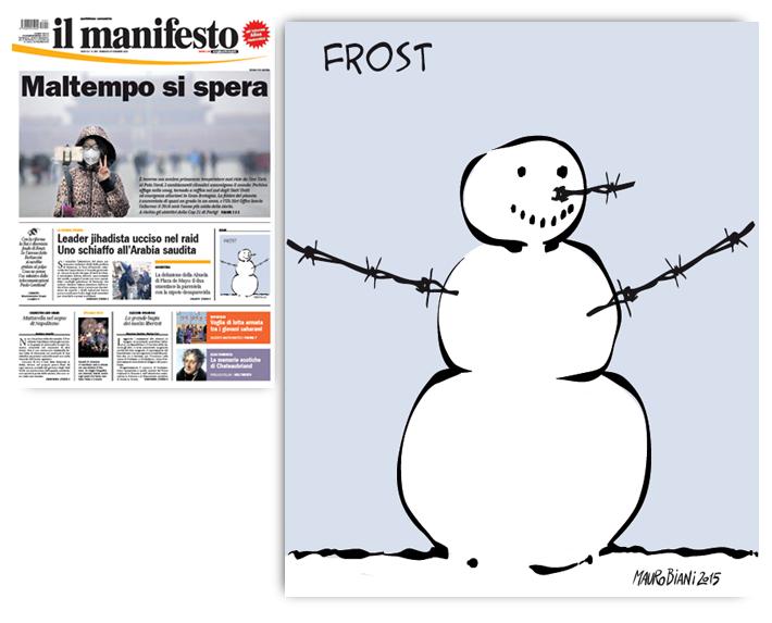 migranti-frost-pupazzo-neve-filo-spinato-il-manifesto