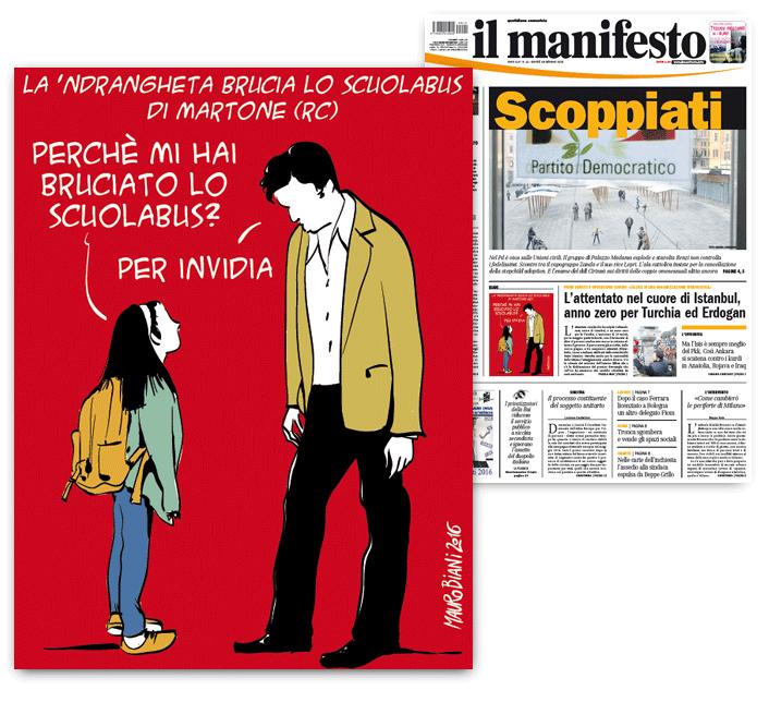 ndrangheta-mafia-scuola-bus-bruciato-locride-il-manifesto