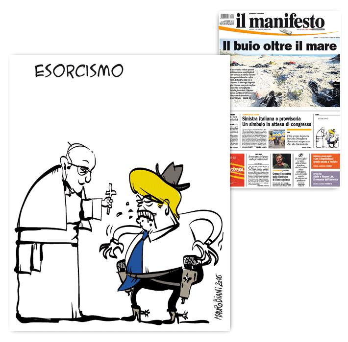 trump-vs-papa-il-manifesto