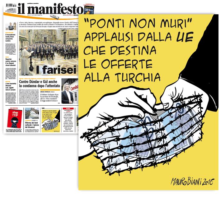offerte-migranti-ue-papa-turchia-il-manifesto