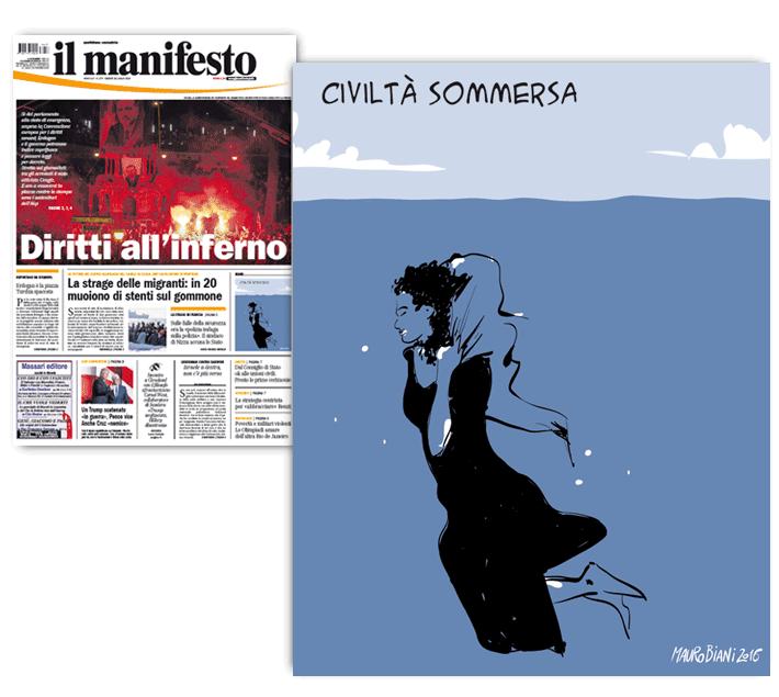 migranti-donna-civilta-sommersa-il-manifesto