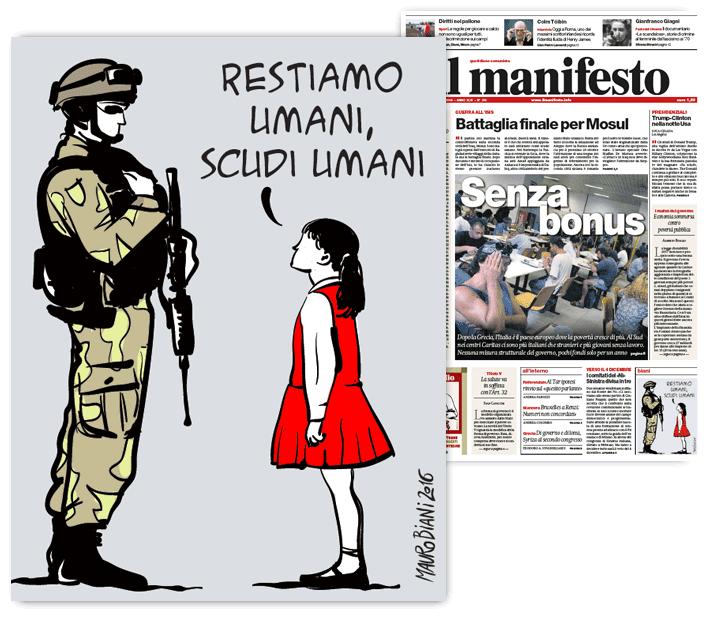 scudi-umani-mosul-soldati-il-manifesto